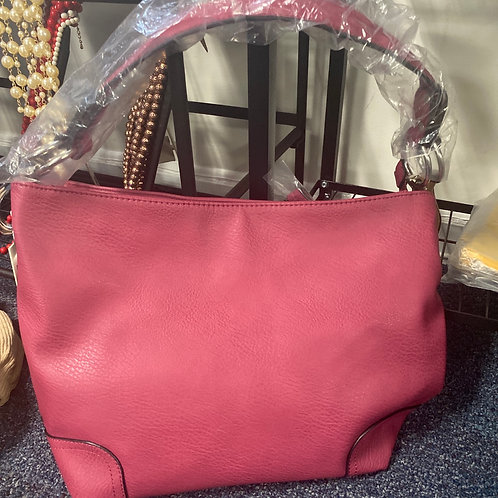 Faux Leather Concealed Carry Handbag