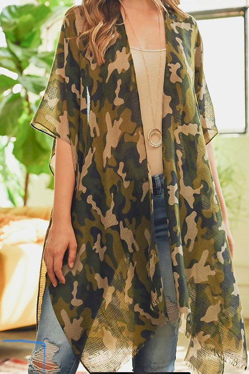 Camouflage Kimono