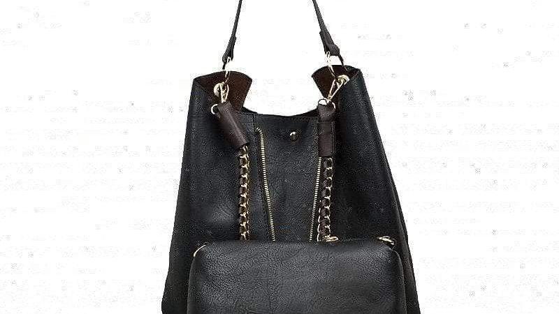 Black 2 Piece Chain Bag