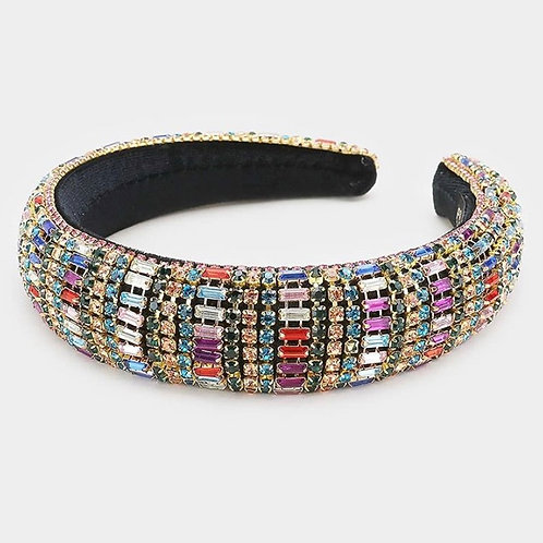 Triple Strand Rainbow Headband