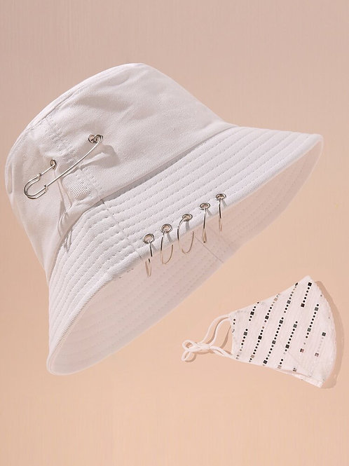 Bucket Hat with Matching Face Covering