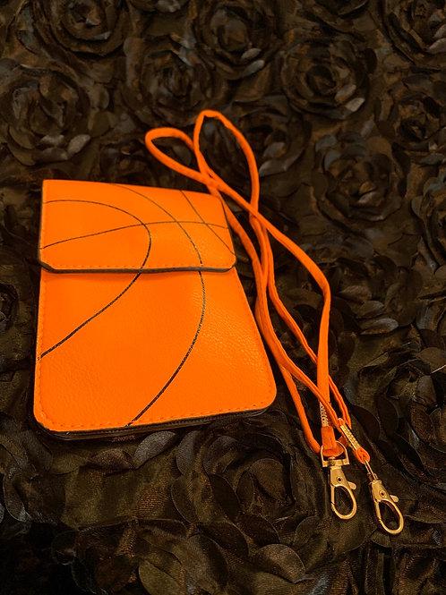 Basketball crossbody purse / cell phone case duo