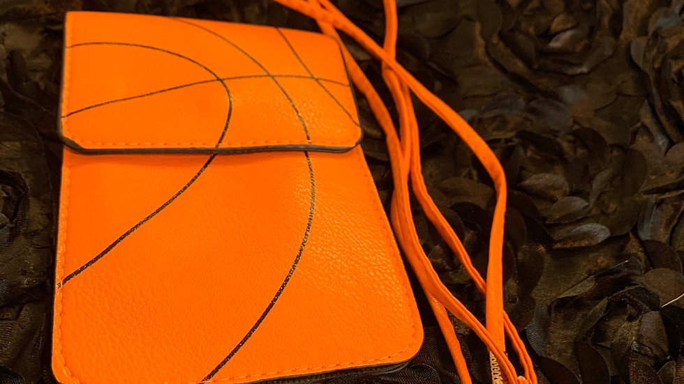Basketball crossbody purse / cell phone case duo