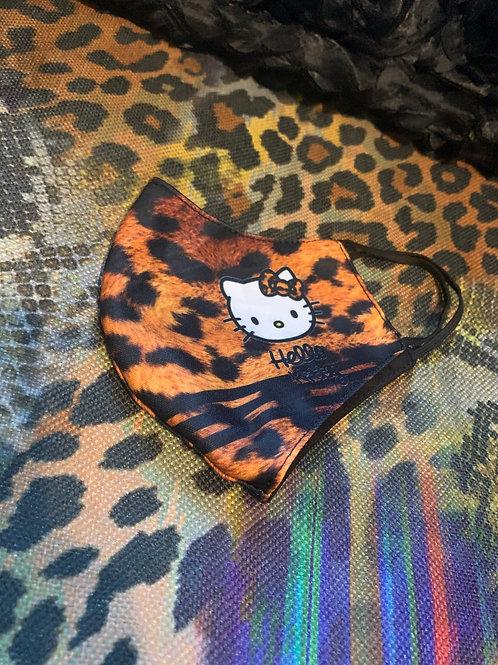 Cheetah Hello Kitty Inspired Mask