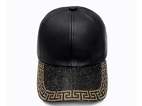 Versace inspired blinged hat