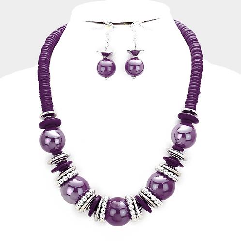 Purple skies necklace set