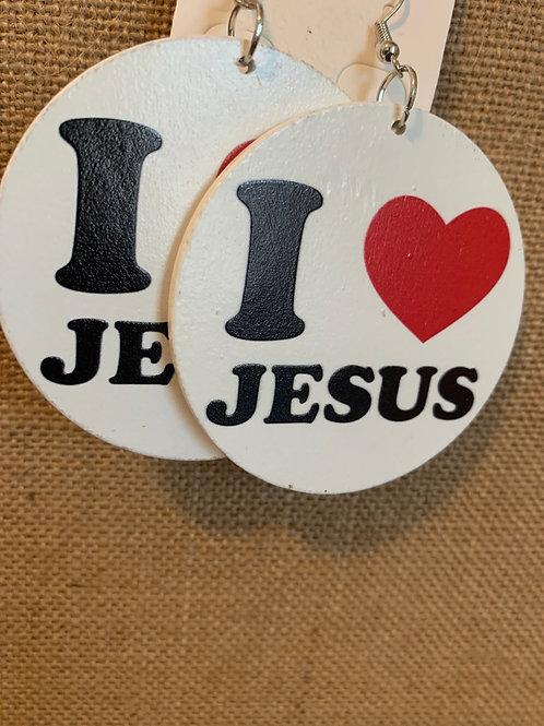 I ❤️ Jesus Earrings
