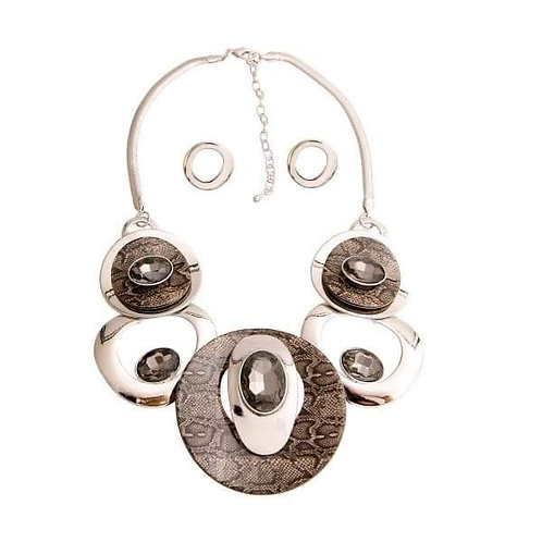 5 Ring Necklace Set