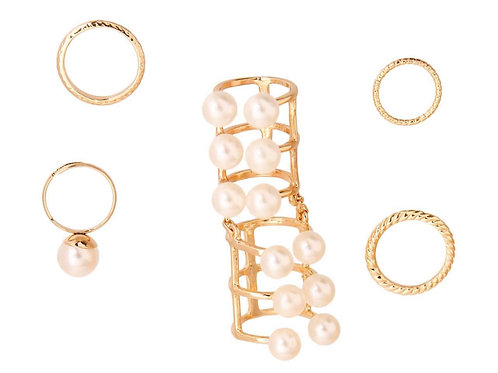 Pearl Bended Ring