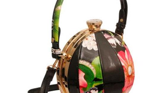 Floral Ball Shaped Handbag