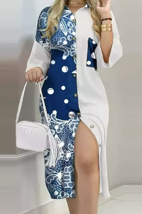 Blue & White shirt dresses
