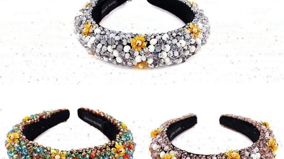 Flower Beaded Headband