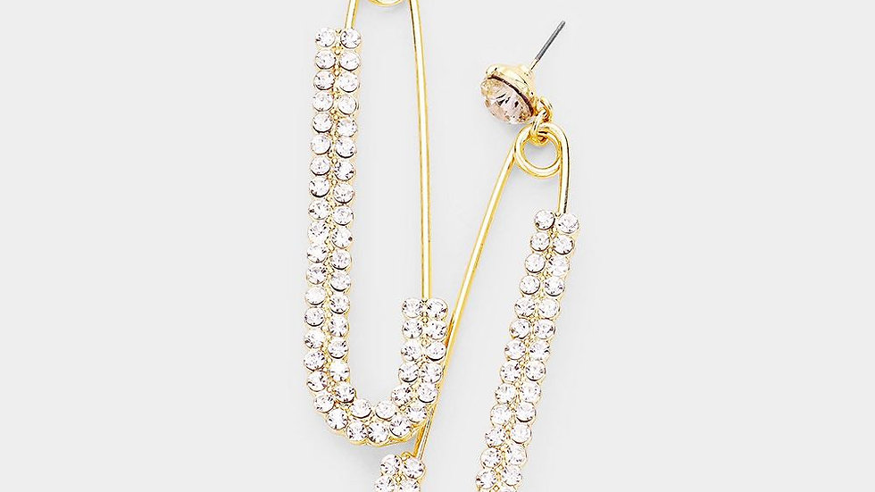 Oversized Safety Pin Earrings