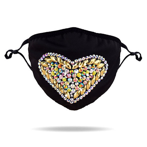 Jeweled Heart Mask