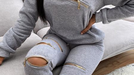 Zippered Sweat Suit