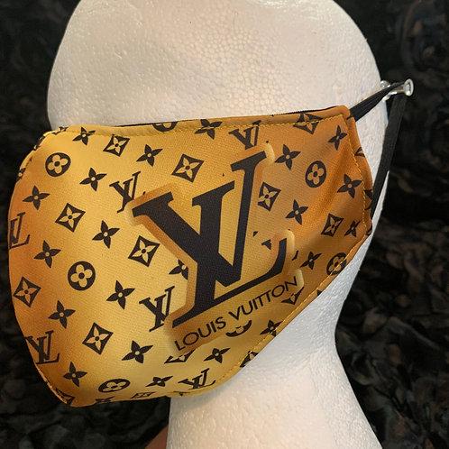 Gold LV Inspired Mask