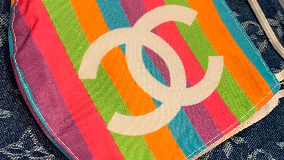 Rainbow Chanel Inspired Mask