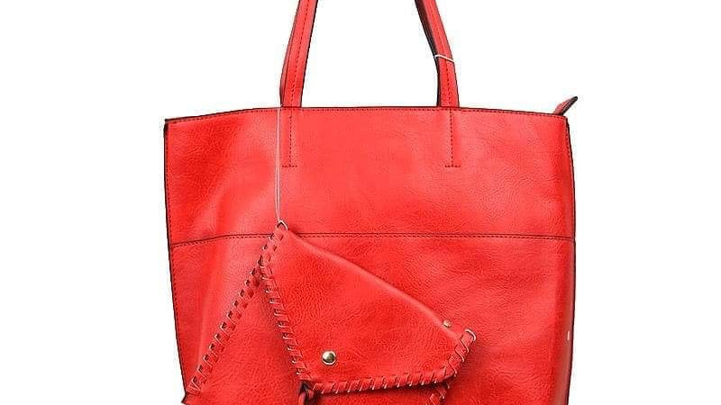 Red Handbag With Wallet