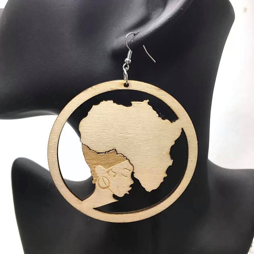 """""""All Natural"""" Wooden Earrings"""
