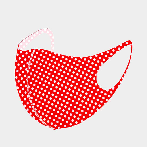 Red Polka Dot 3D Mask