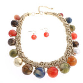 Multi Rope Pearl Necklace