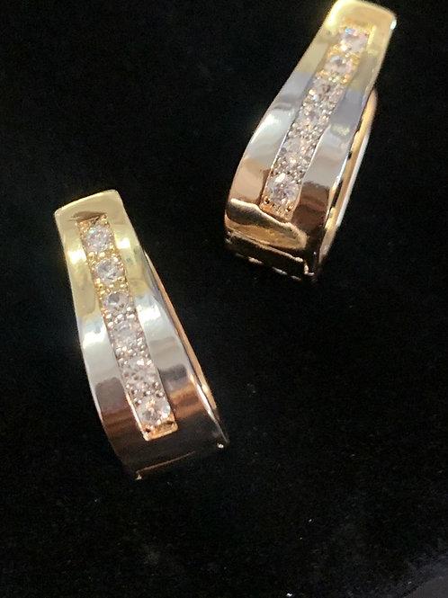 Fancy Gold Earrings with Diamonds