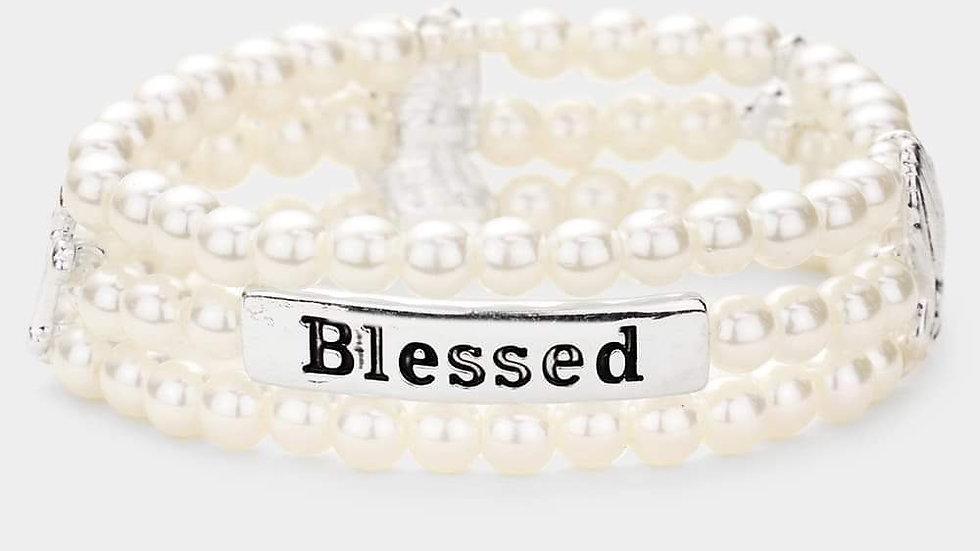 """""""Blessed"""" Pearl Bracelet"""