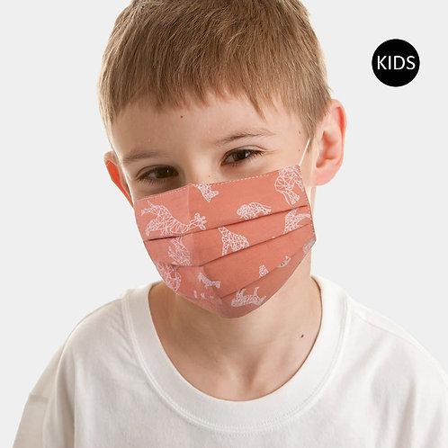 Kids Orange Animal Print Mask