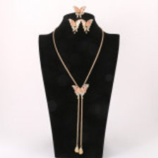 Gold Plated Butterfly Necklace Set