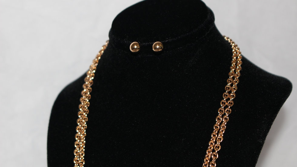 Lowkey Rose Gold Necklace Set