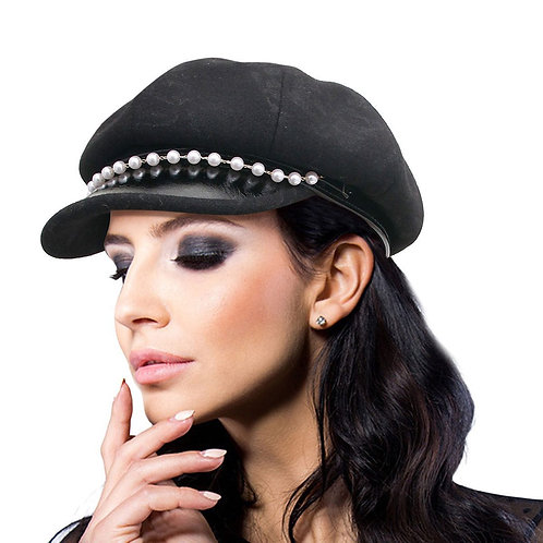 Black Painters Hat W/ Brim