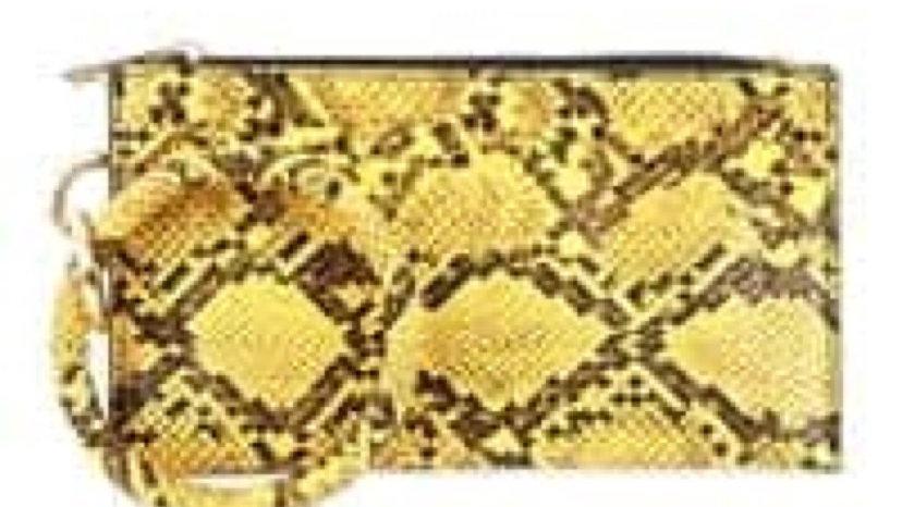 Snake Print Wristlet