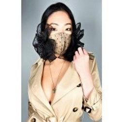 Black & Tan Lace Mask