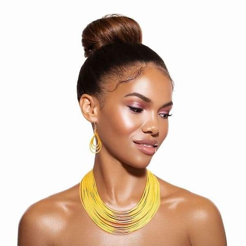 Yellow & Gold Layered Necklace