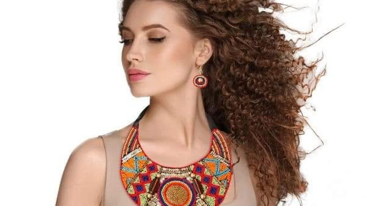 Multi Color Round Tribal Beaded Set