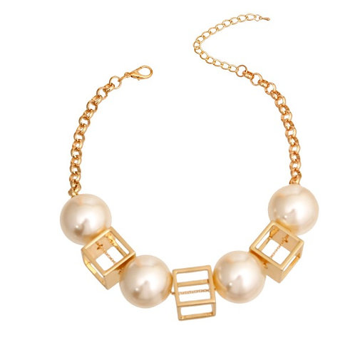 Geo Pearl Necklace