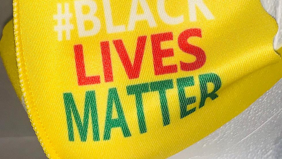 KIDS Yellow Black Lives Matter Mask