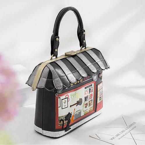 Retro House Shaped Handbag