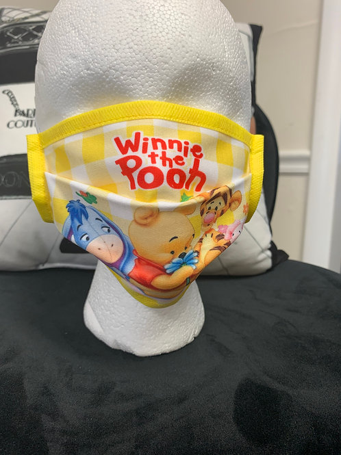 Winnie the Pooh Inspired (Disposable Style) Mask