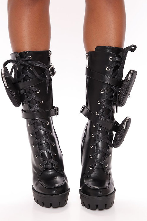 Combat Boots with thick heel