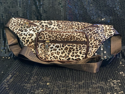 Faux Leather Cheetah Print Fanny Pack