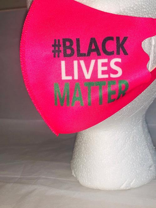 Kids Pink Black Lives Matter Mask