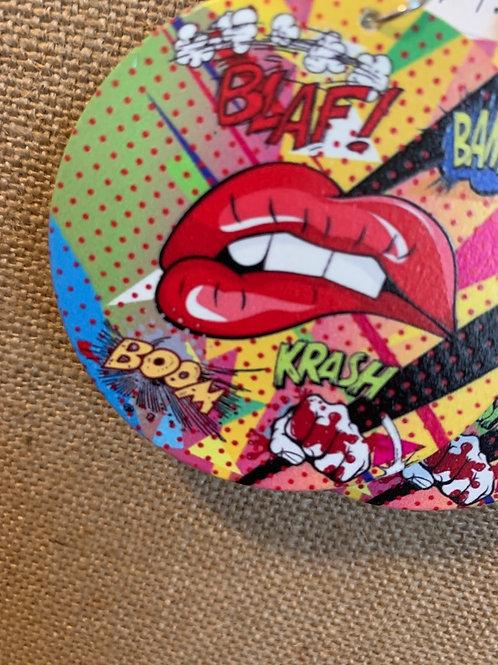 Comic Lip Earrings