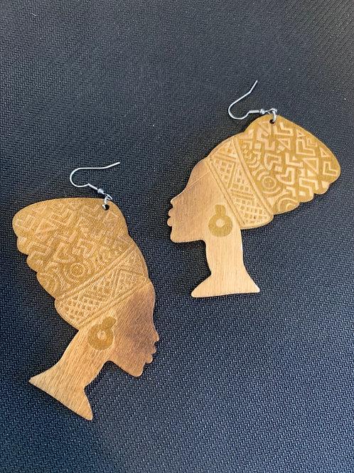Strong Bold wooden Earrings