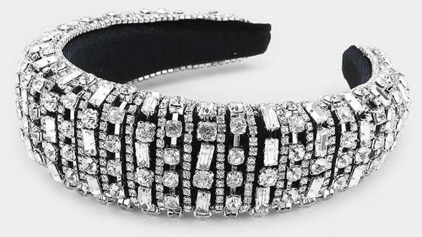 White Diamonds Jeweled Headband