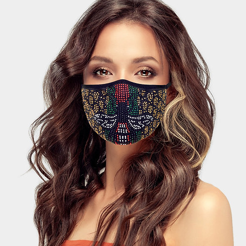 Gucci Inspired Bling Mask