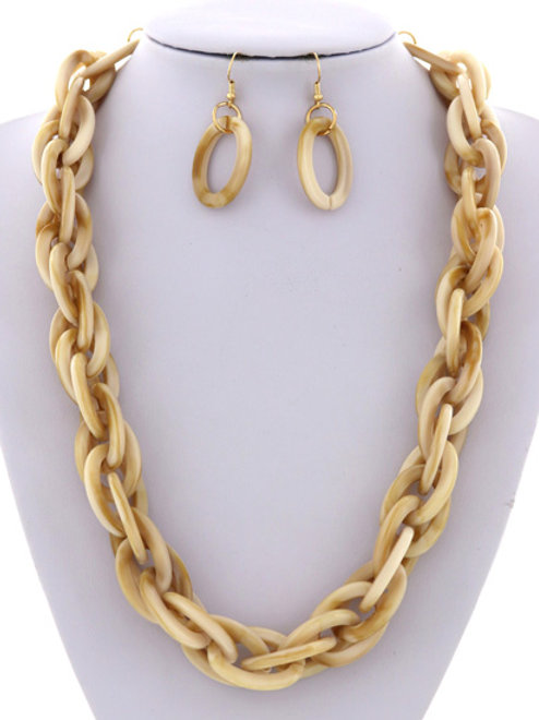 Link Chain Necklace Set