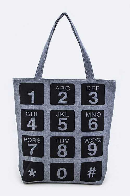 Phone Canvas Tote
