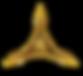 Logo Aldearon Healing in darker-gold a d