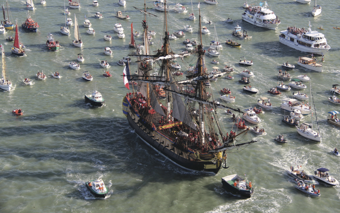 Hermione - Lafayette Parade of Ships